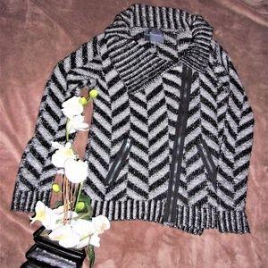Anthropologie Medium Paper crane black sweater top